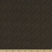 Metallic Dot Cotton Fabric - Black