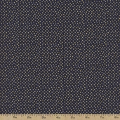 Metallic Dot Cotton Fabric - Navy