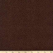 Metallic Pin Dots Cotton Fabric - Brown