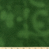 Metallic Pin Dots Cotton Fabric - Green