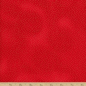 Metallic Pin Dots Cotton Fabric - Red