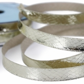 Metallic Snakeskin Ribbon 1/2in. - 27.5yds - Gold