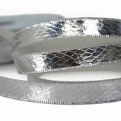 Metallic Snakeskin Ribbon 1/2in. - 27.5yds - Silver