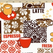 Metro Cafe Cotton Fabric - Spice