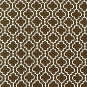 Metro Living Cotton Fabric - Chocolate