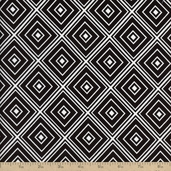 Metro Living Diamond Cotton Fabric - Black