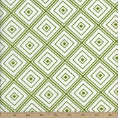 Metro Living Diamond Cotton Fabric - Grass