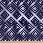Metro Living Diamond Cotton Fabric - Navy