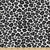 Metro Living Leopard Print Cotton Fabric - Black EIP-11176-2