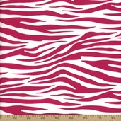 Metro Living Zebra Stripe Cotton Fabric - Hot Pink EIP-11175-110