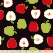 Metro Market Cotton Fabric - Black AYS-13055-2