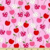 Metro Market Cotton Fabric - Cherries - Spring - CLEARANCE