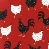 Metro Market Cotton Fabric - Red