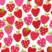 Metro Market Cotton Fabric - Strawberry