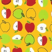 Metro Market Cotton Fabric - Yellow
