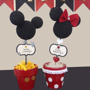 Mickey and Minnie Pots