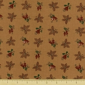 Mill Girls Cotton Fabric - Brown 4156-0132