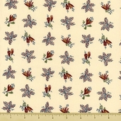 Mill Girls Cotton Fabric - Cream 4156-0140