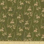 Mill Girls Cotton Fabric - Green 4151-0116