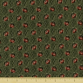 Mill Girls Cotton Fabric - Green 4158-0116