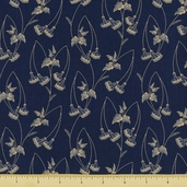 Mill Girls Cotton Fabric - Navy 4151-0150 - CLEARANCE