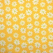 Mingle Cotton Fabric - Flower Canary Yellow
