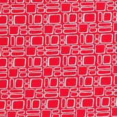 Mingle Cotton Fabric - Squares Red