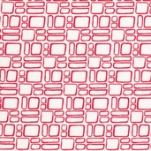 Mingle Cotton Fabric - Squares Ruby