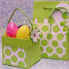 Mini Easter Basket And Bag