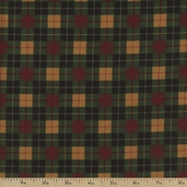 Mini Plaid Flannel Fabric - Pine