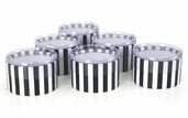 Mini Striped Favor Boxes - Black/ White