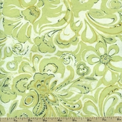 Mirabelle Abstract Floral Cotton Fabric - Green