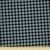 Mirror Ball Dot Cotton Fabric - Onyx