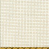 Mirror Ball Dot Cotton Fabric - Snow DM2999-SNOW-D