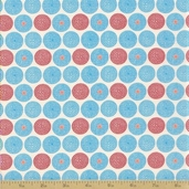 Mission View Cotton Fabric - Terracotta Circle Dot