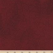 Mixmasters Dot To Dot Cotton Fabric - Cardinal