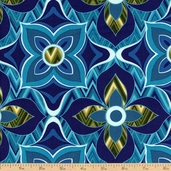 Mixxoni Floral Cotton Fabric - Teal