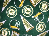 MLB Fleece: Oakland A's - Green