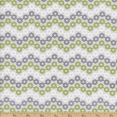 Mod Geek Hexagon Cotton Fabric - Atmosphere