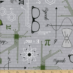 Mod Geek Schematics Cotton Fabric - Atmosphere