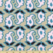Mod Swirls Cotton Fabric - Blush - CLEARANCE