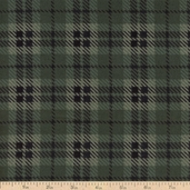 Moda Wool and Needle Flannel II Large Plaid - Dark Green