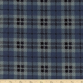 Moda Wool and Needle Flannel II Large Plaid - Denim