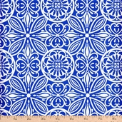 Modern Mixers Large Medallion Allover Cotton Fabric - Blue