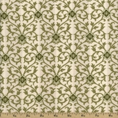 Modern Romance Cotton Fabric - Green R14-4417-0114 - CLEARANCE