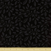 Modern Shadows Cotton Fabric - Black MSHA-219