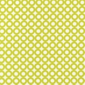 Modern Whimsy Cotton Fabric - Lime Circles