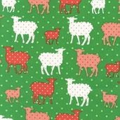 Modern Whimsy Cotton Fabric - Meadow Lamb