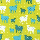 Modern Whimsy Cotton Fabric - Park Lamb