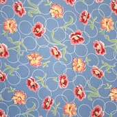 Momma's Apron Strings Fabric - Blue